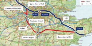 Seen This Proposal For An 'M25 For High-Speed Trains', Spanning Both Heathrow And Gatwick?