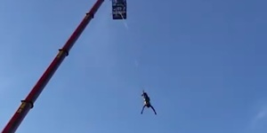 Would You Jump 160ft From A Giant Crane Next To The O2 Arena?