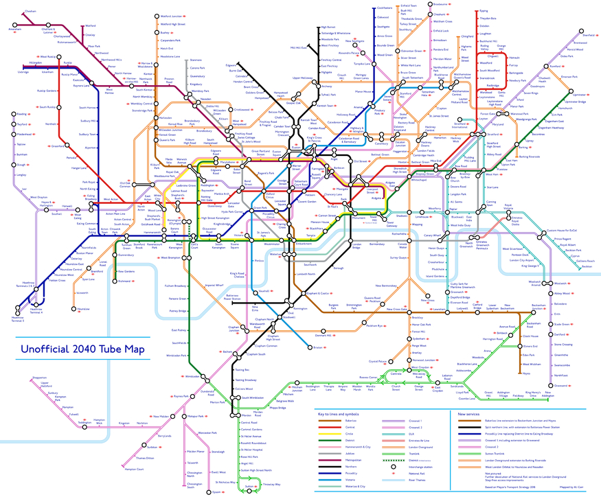 This Is What The Tube Map Could Look Like In 2040 Londonist
