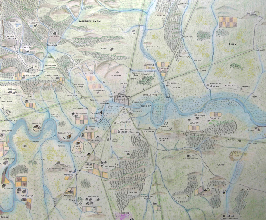 Anglo Saxon London Map: Updated