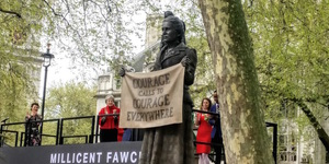Parliament Square's First Statue Of A Woman Has Just Been Unveiled