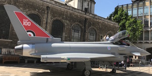 See A Spitfire And Typhoon In Guildhall Yard, Right Now