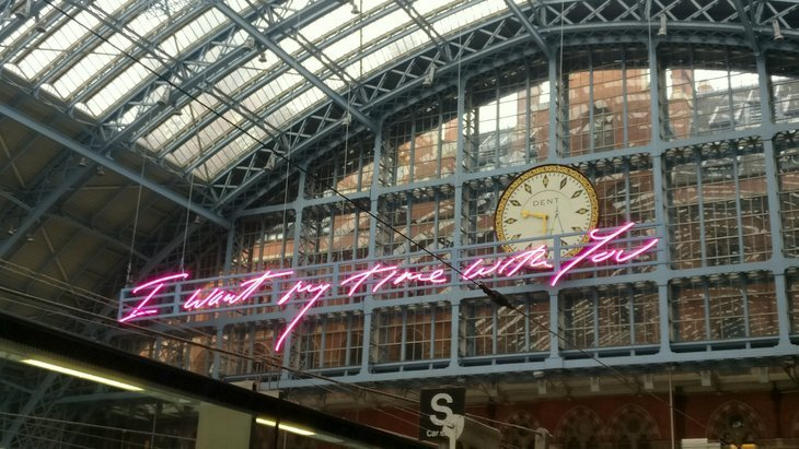 Tracey Emin Lights Up St Pancras With Her Giant Words