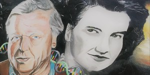 Attenborough And Franklin Together On One London Mural