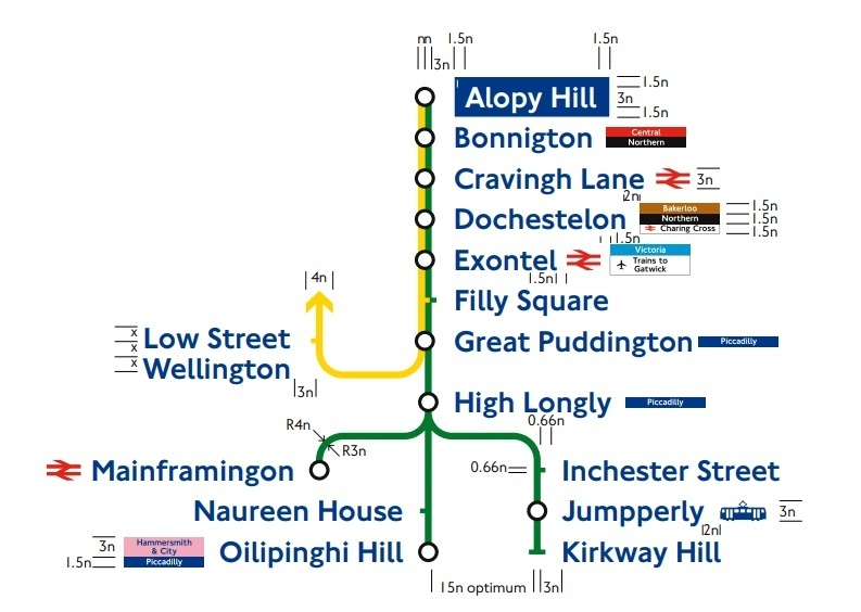 An Official Tfl Tube Diagram With Some Very Odd Station