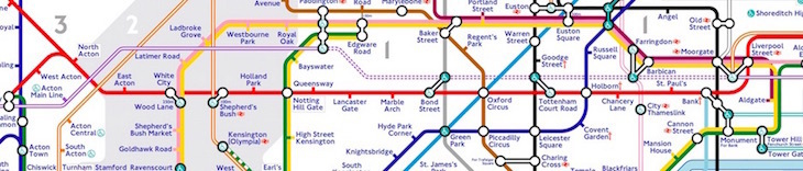 rather than wiggling its way drunkenly down from liverpool street to bank then back to holborn then down again at queensway the red line stays straight