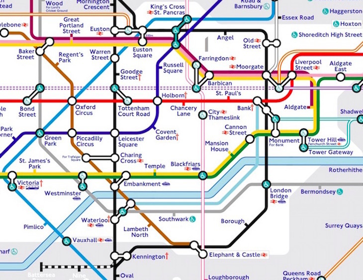 Tube Map Northern Line The Tube Map, Redesigned By A Tooting Resident | Londonist Tube Map Northern Line