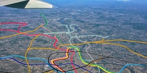 The Tube Map... As Seen From A Plane