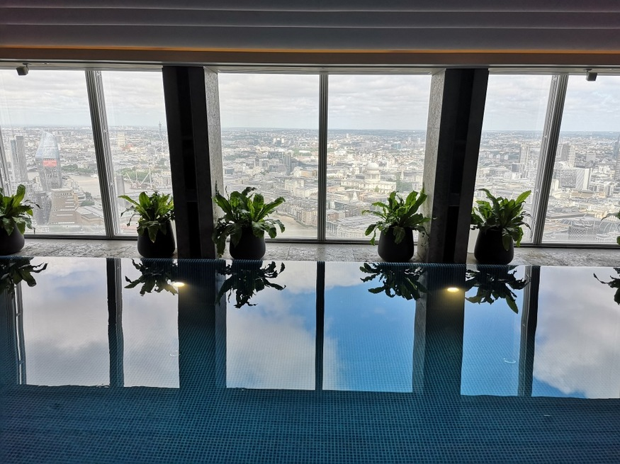 What 39 s it like swimming in the shard londonist for Swimming pools in london ontario
