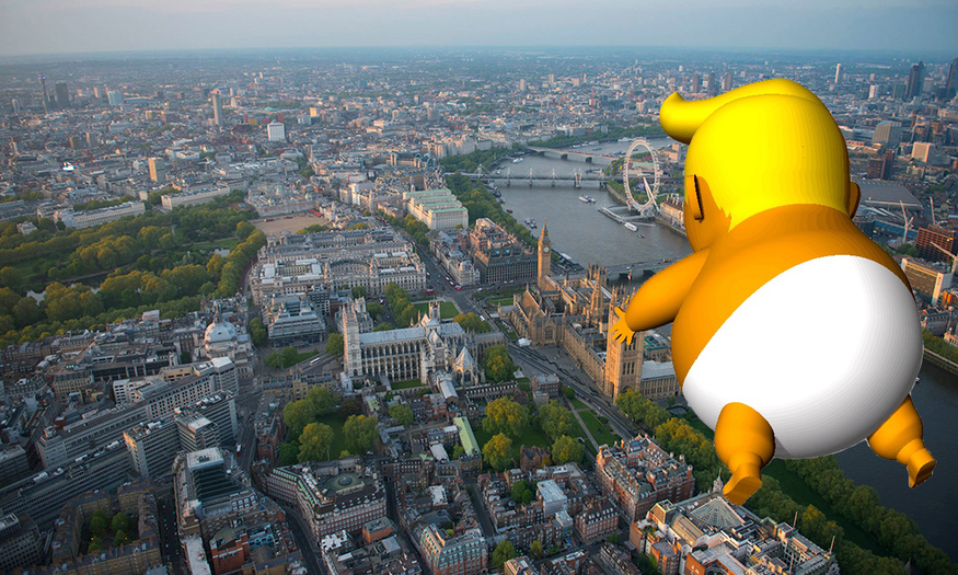 Trump to be greeted with 'Trump baby' blimp in London
