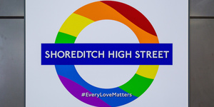 Shoreditch Station Has Got Its Own Pride Roundel