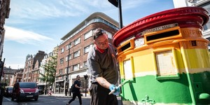 Rainbow Coloured Pride Post Box Appears In Soho
