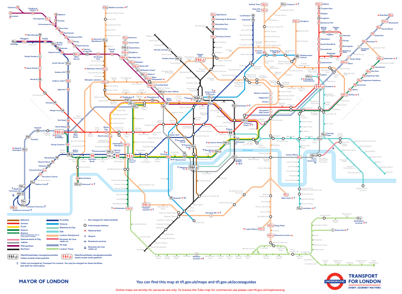 Transport For London Map.A Tube Map Of Every Station S Toilet Facilities Londonist