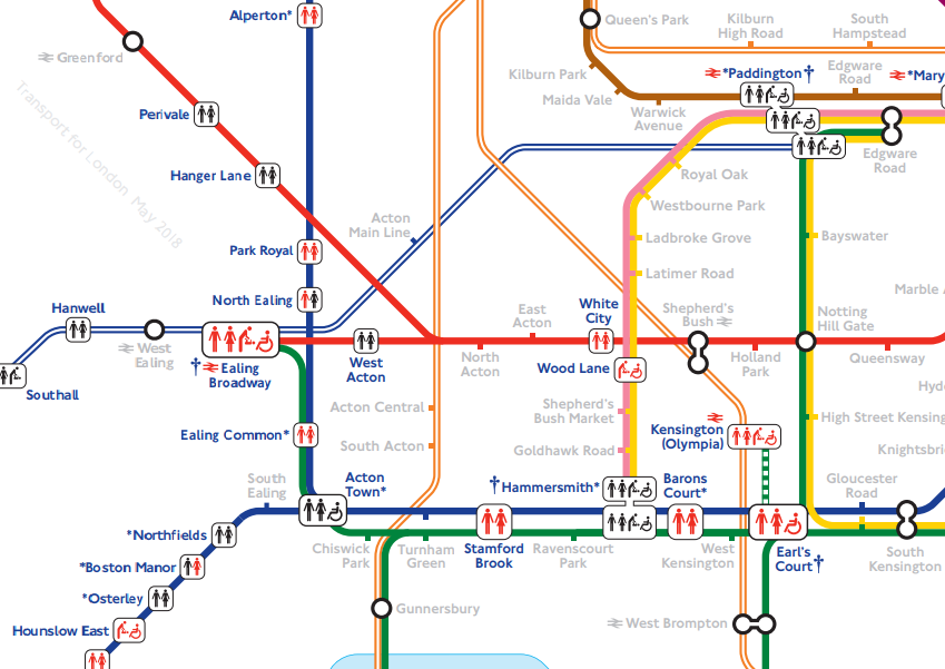 A Tube Map Of Every Station's Toilet Facilities | Londonist