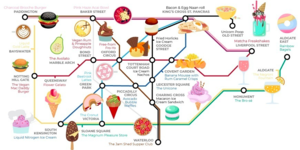 New Tube Map Shows Where To Find London's Quirkiest Food