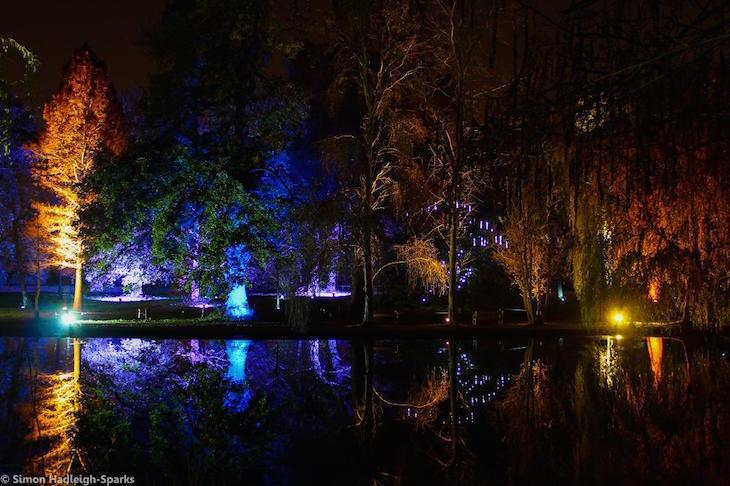 Enchanted Woodland light festival at Syon House and Syon Park, London
