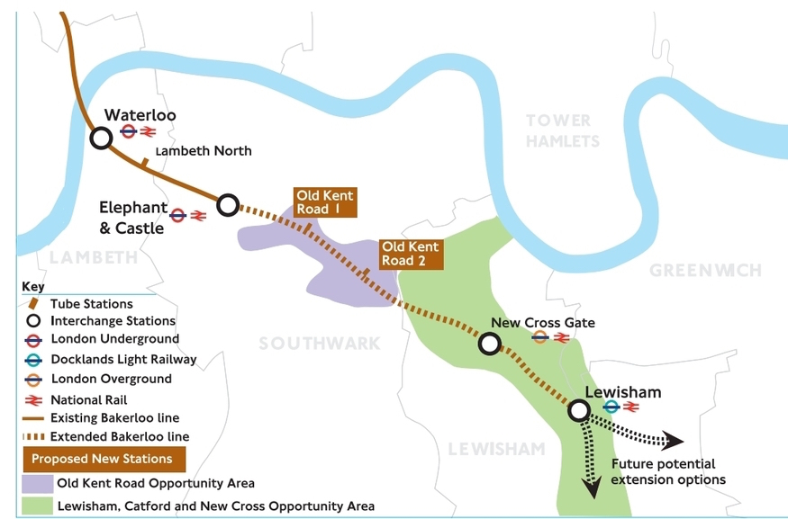 Map South East London.You Can Help Bring The Bakerloo Line To South East London Londonist