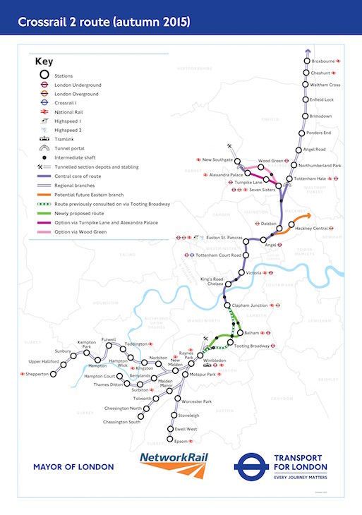 Crossrail 2 Map Crossrail 2: What Is It, When Will It Launch And What's Its Route  Crossrail 2 Map