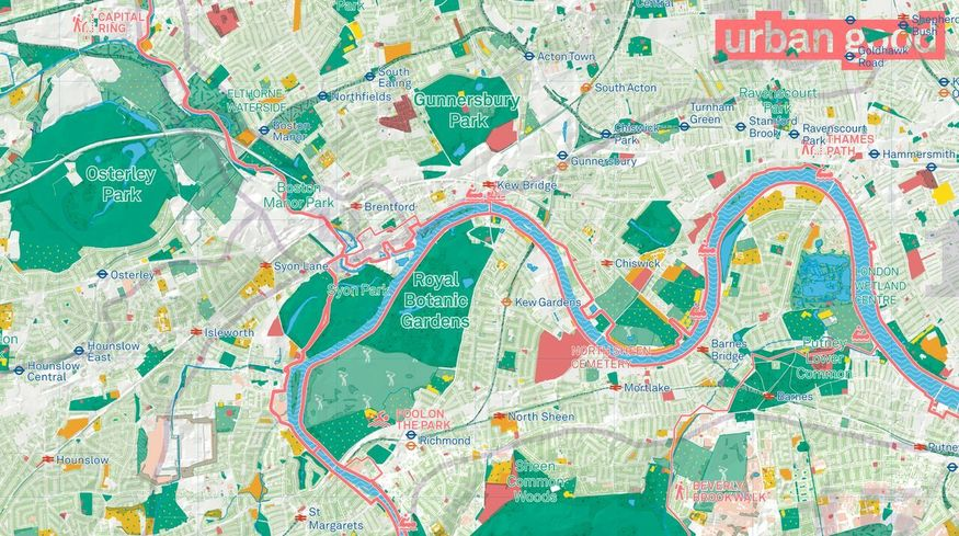Show Map Of London.Get Your Free Map Of Green London Londonist