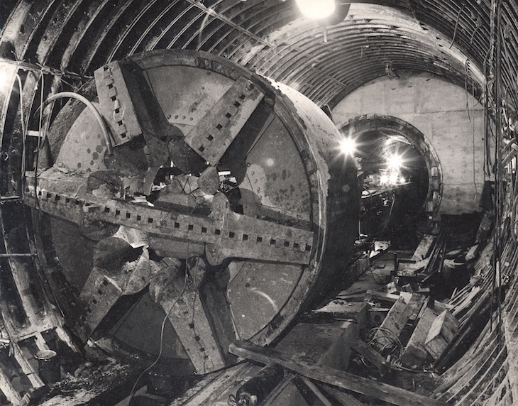 Victoria line being constructed