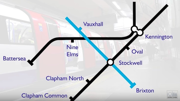 Northern line extension route map