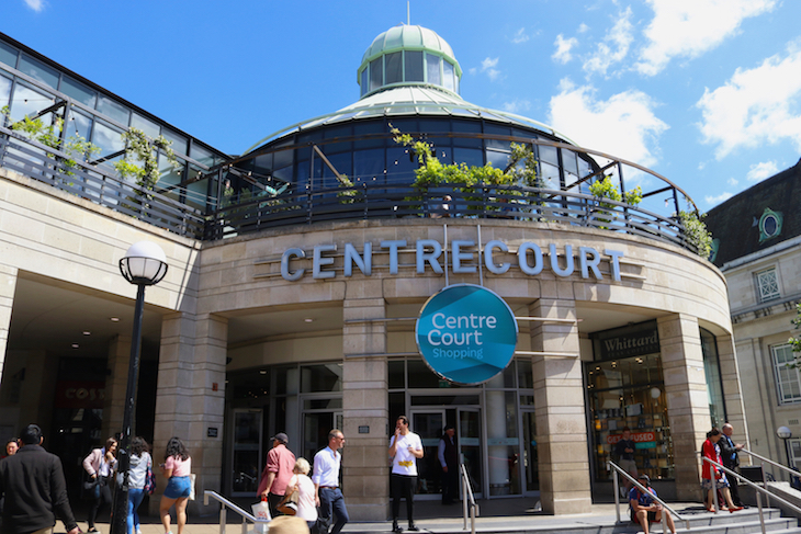 Centre Court shopping centre in Wimbledon, much of which is under threat from Crossrail 2 plans.