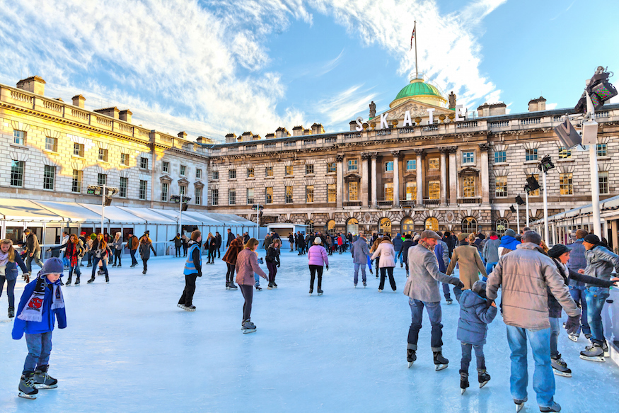 The Christmas ice skating rink at Somerset House London: Where to go ice skating in London at Christmas