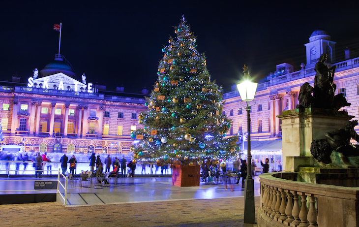 The Christmas ice skating rink at Somerset House, London: Where to go ice skating in London at Christmas