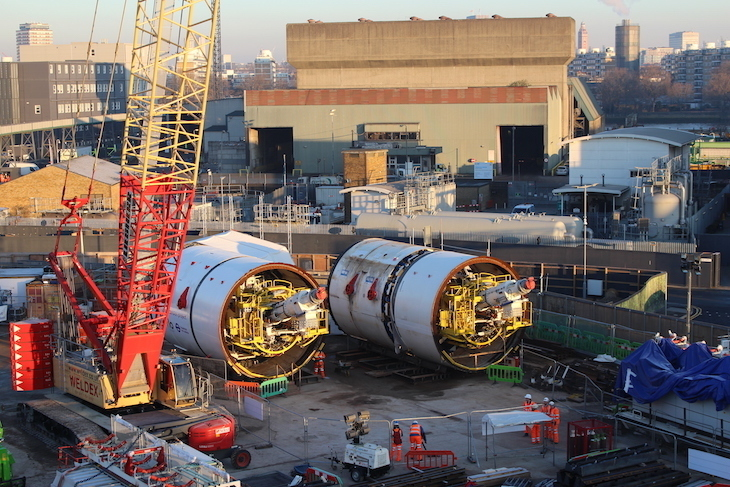 Tunnel boring machines called Amy and Helen which made the tunnels for the Northern line extension