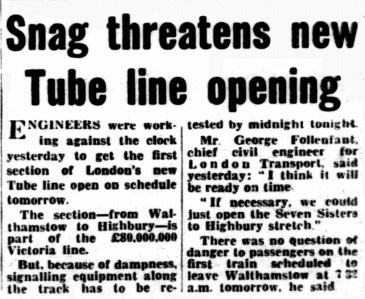 Crossrail's Not Alone: The Victoria Line Almost Didn't Open