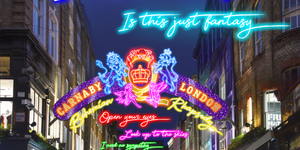 See Queen's Bohemian Rhapsody Lyrics Illuminated Over The West End