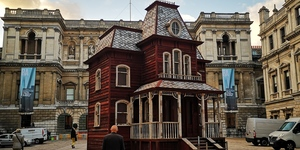Bates Motel House Appears In Front Of The Royal Academy