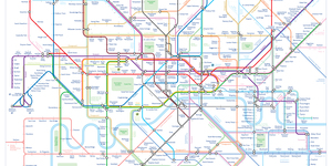 A Contemporary Tube Map That Channels Harry Beck