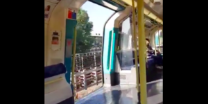 Jubilee Line Tube Train Filmed Running With Doors Left Wide Open