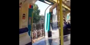 Jubilee Line Tube Train Filmed Running With Doors Left Wide Open