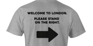 At Last! A T Shirt That Tells People To STAND ON THE RIGHT