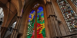 David Hockney's New Stained Glass Window Unveiled In Westminster Abbey