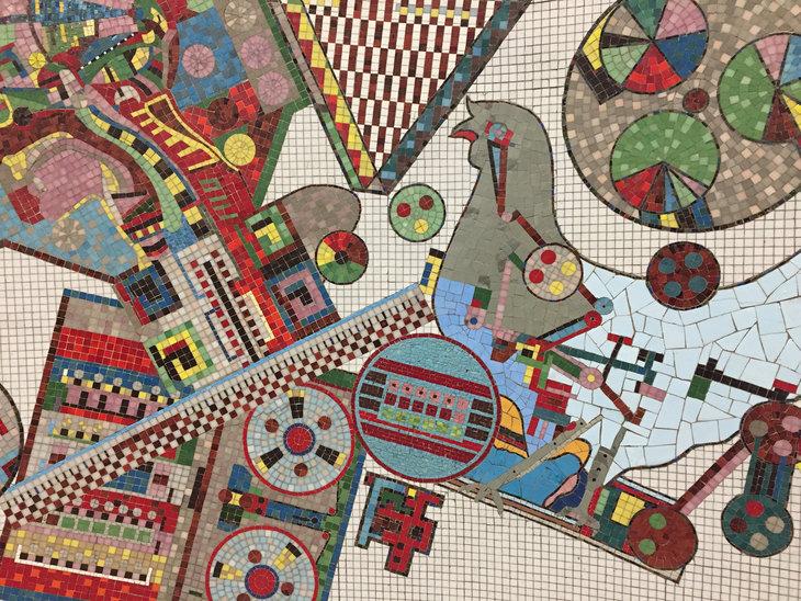 Tottenham Court Road mosaics.
