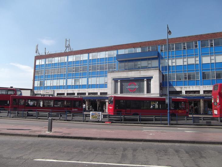 Morden tube station.