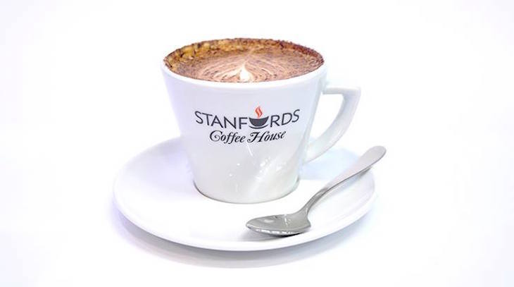 Stanfords Coffee House, one of the best hot chocolates in London