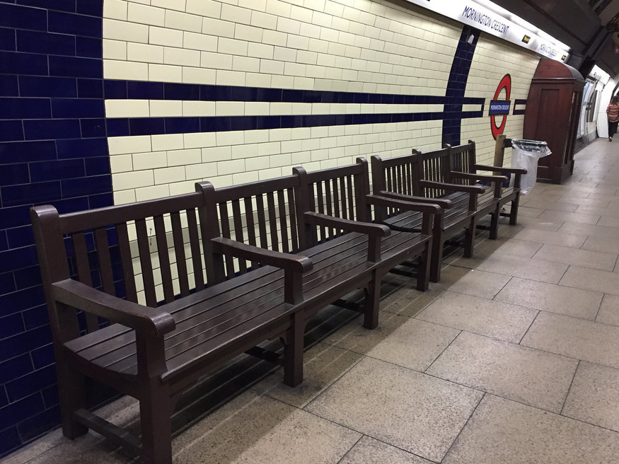 Mornington Crescent benches.