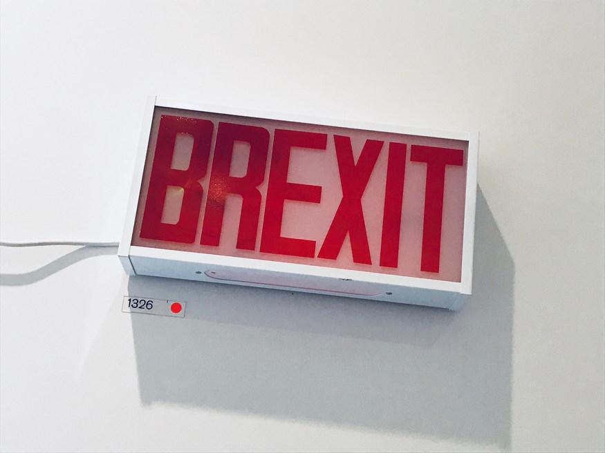 A Brexit exit sign
