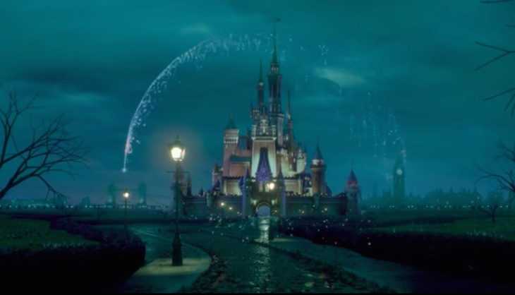 Disney logo in London new Mary Poppins film