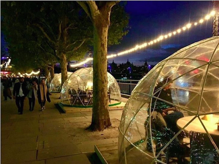 Igloos at Jimmy's Lodge on South Bank: Winter igloos in London 2018