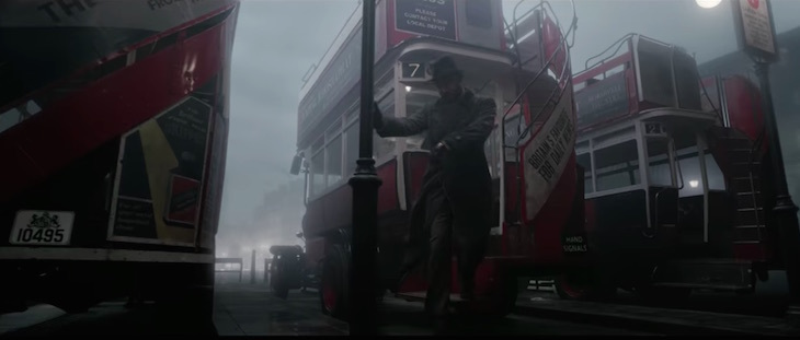 Fantastic Beasts: The Crimes of Grindelwald Trailer London filming locations London bus