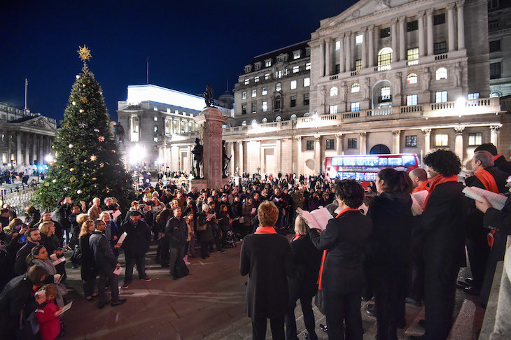 Royal Exchange at Bank Christmas lights switch on: when are London's Christmas lights 2018 turned on?