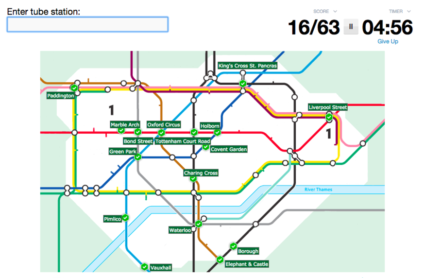 A Ridiculously Addictive Tube Quiz | Londonist