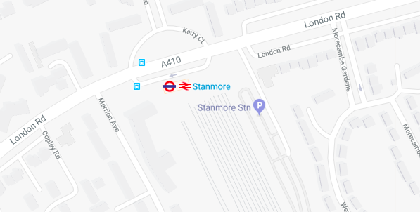 Stanmore tube station is now mainline