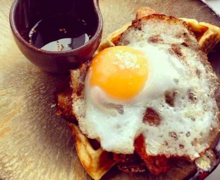 Gluten free comfort food and carbs for coeliacs in London Duck & Waffle