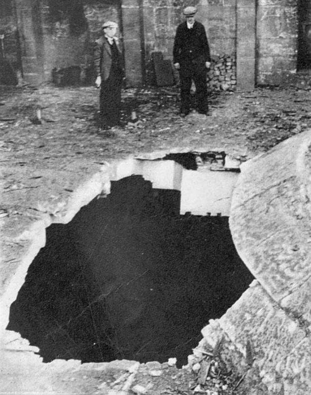 A hole in St Paul's Cathedral.